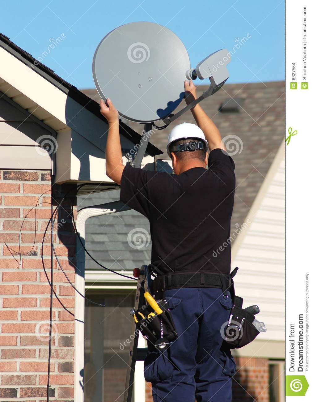 Satellite Technician Stock Images Image 6827554