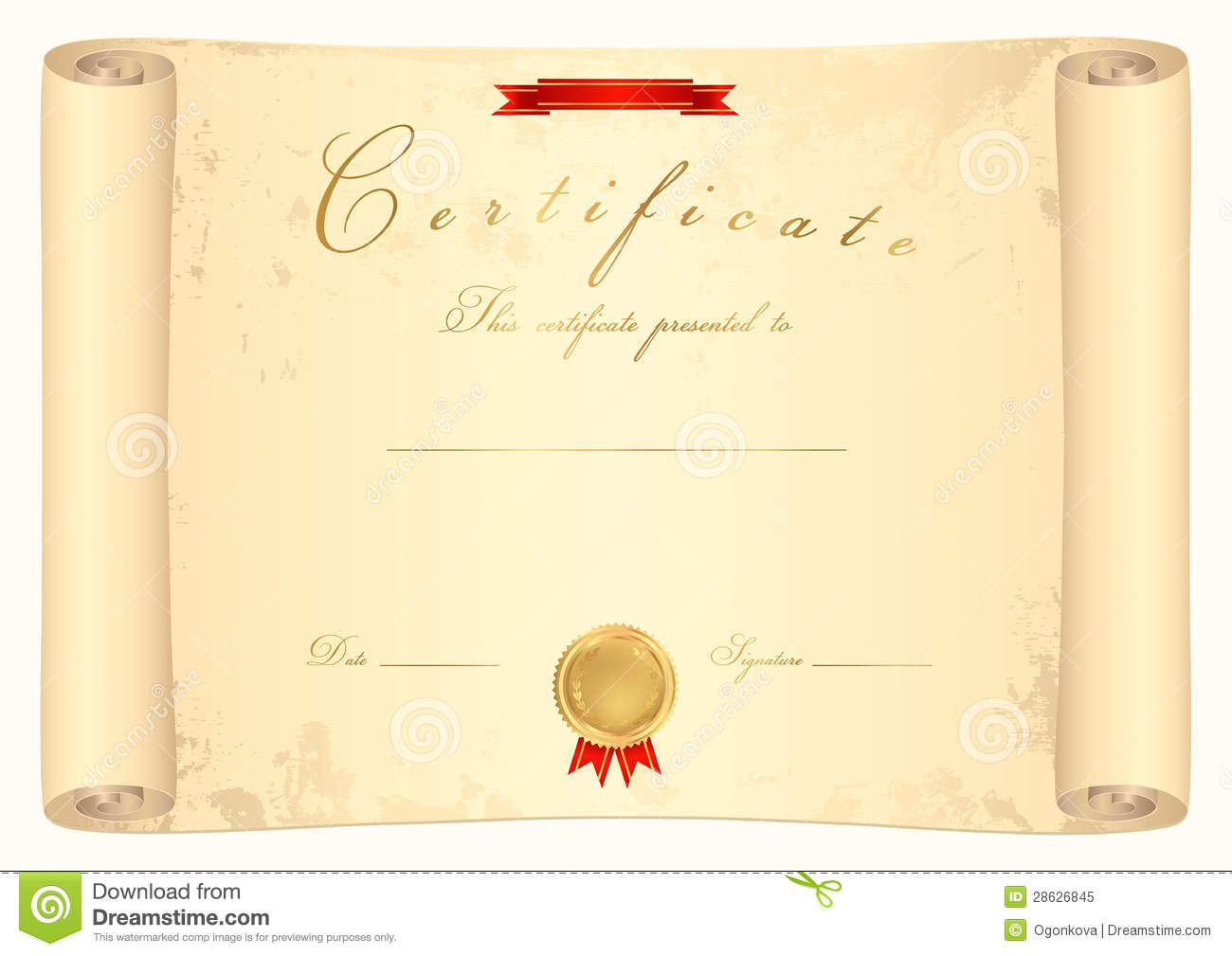 Graduation Scroll Template
