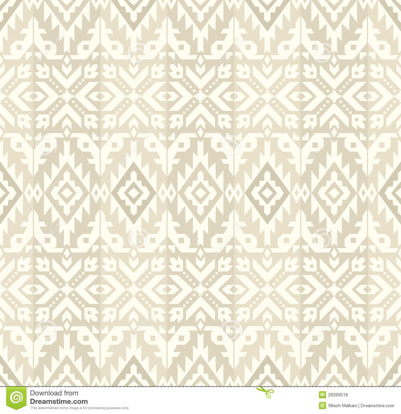 Seamless Background For Bed Sheet Royalty Free Stock