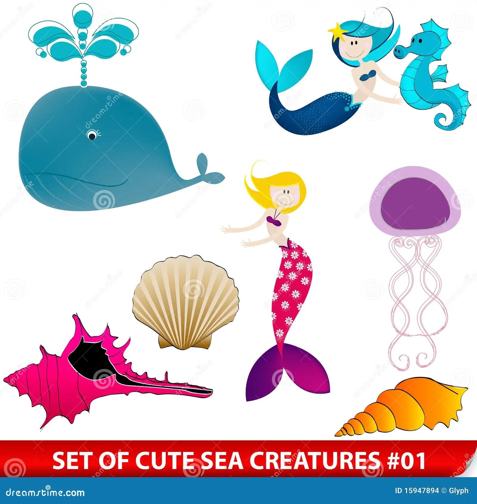 Cute Drawings Sea Creature