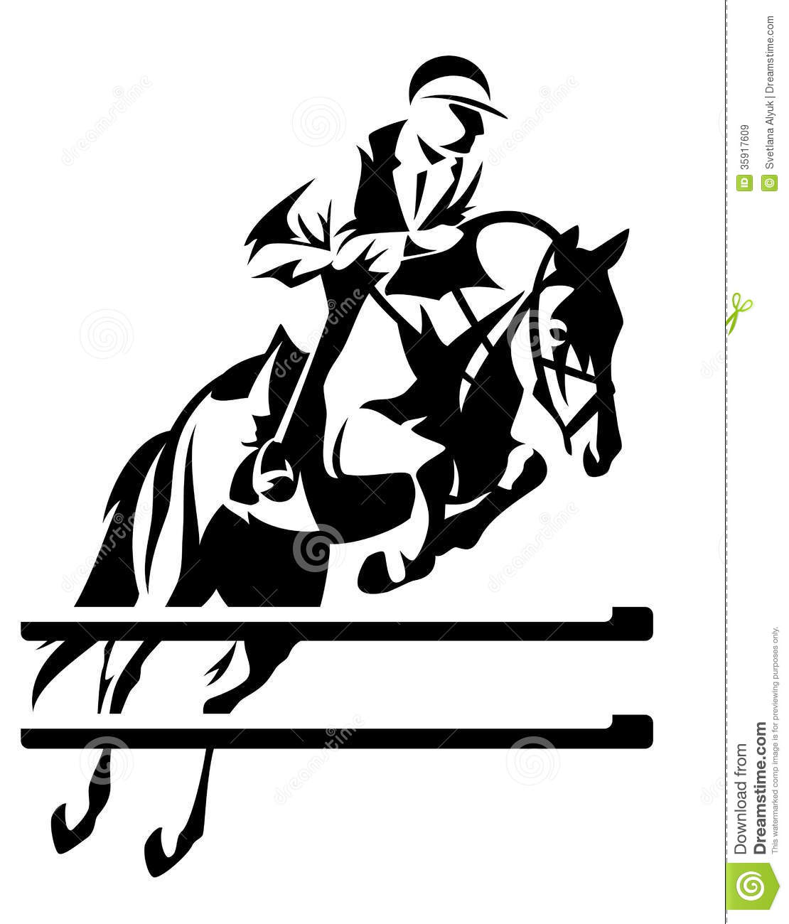 Show Jumping Vector Royalty Free Stock Images Image