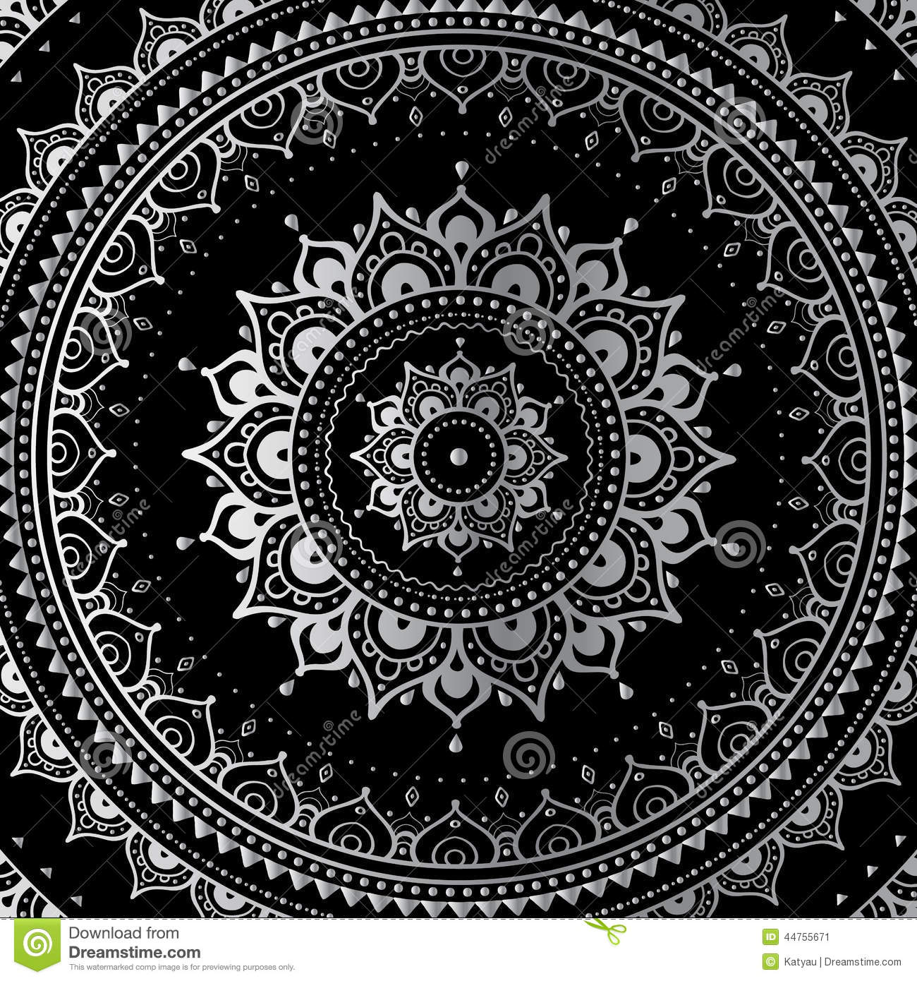 Black And White Tapestry Wallpaper