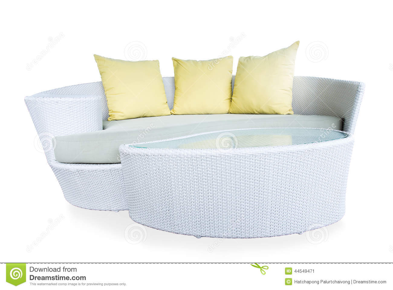 Yellow Wicker Furniture