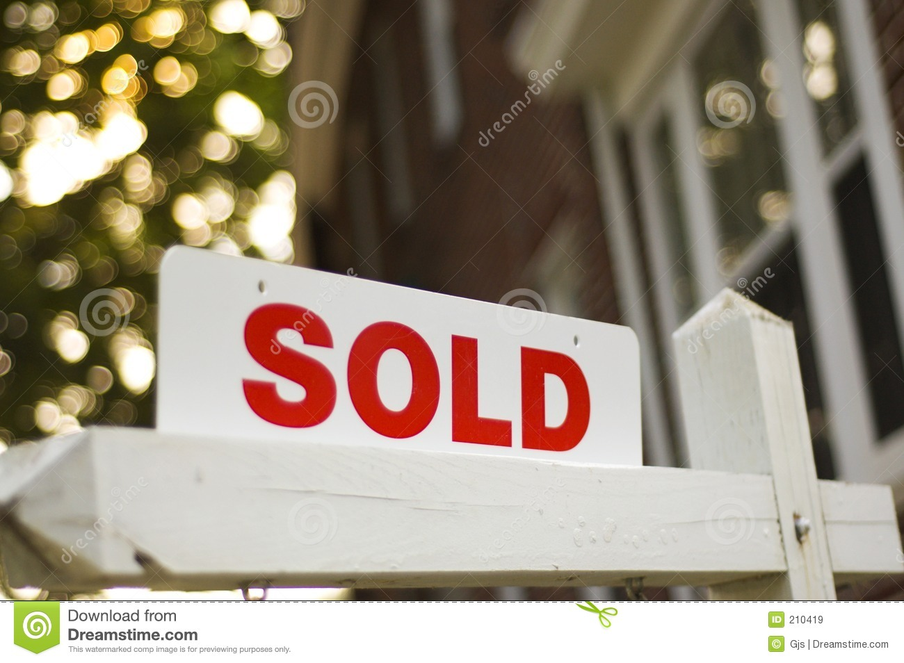 Sold Sign Stock Image Image Of Successful Construction
