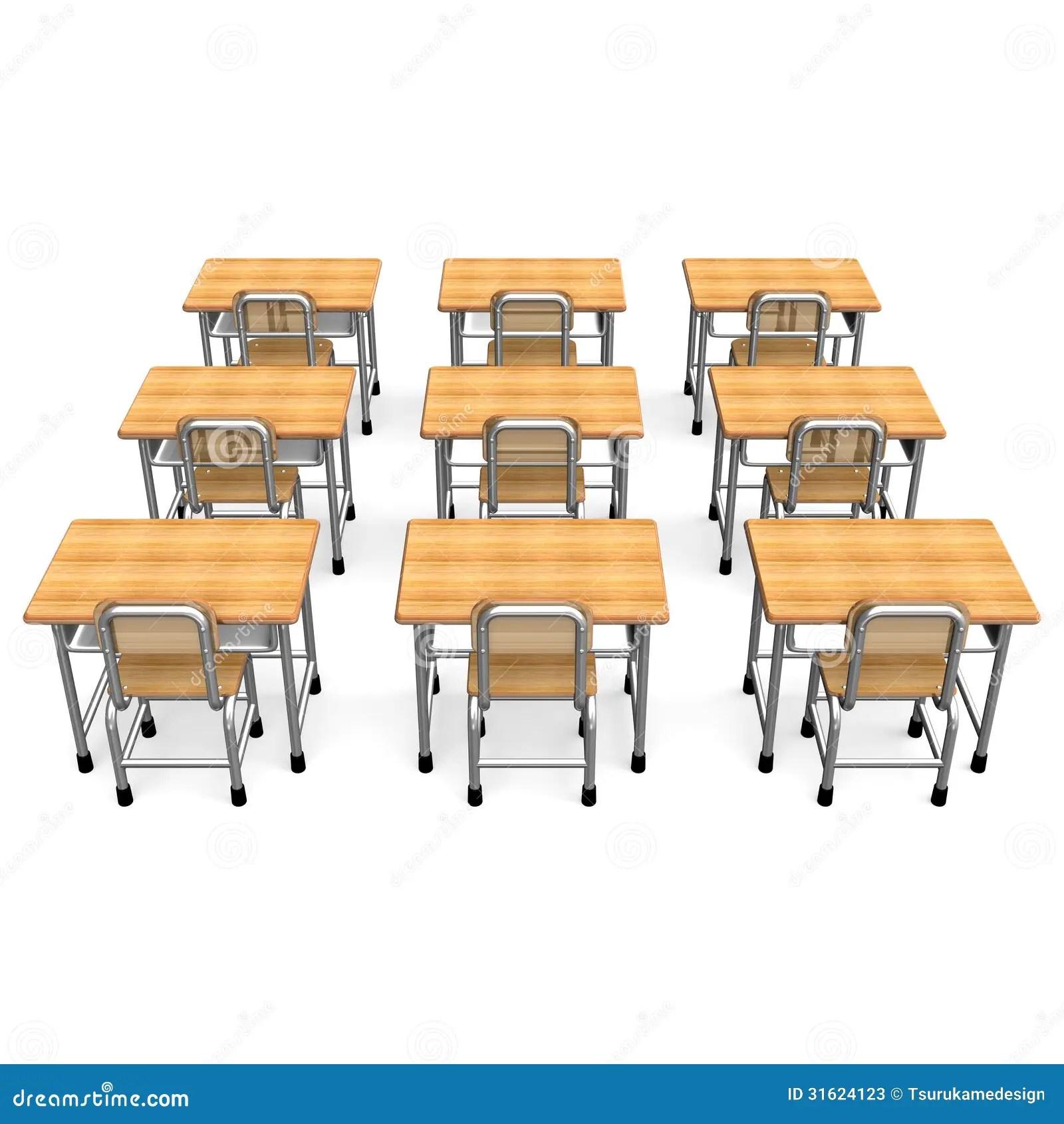 Back View School Desk Chair Combo