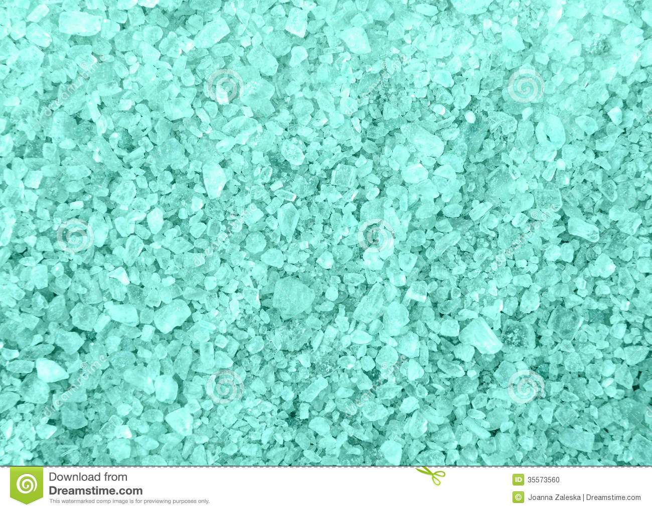 Spa Blue Bath Salt Crystals Background Texture Stock Photo