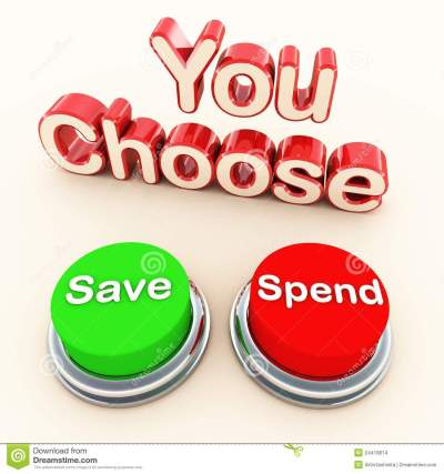 Spend or save choice stock illustration. Illustration of ...