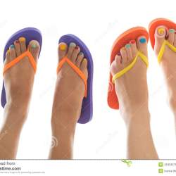 40ab0bd251b26e Summer Feet With Flip Flops Stock Photo Image  43434278