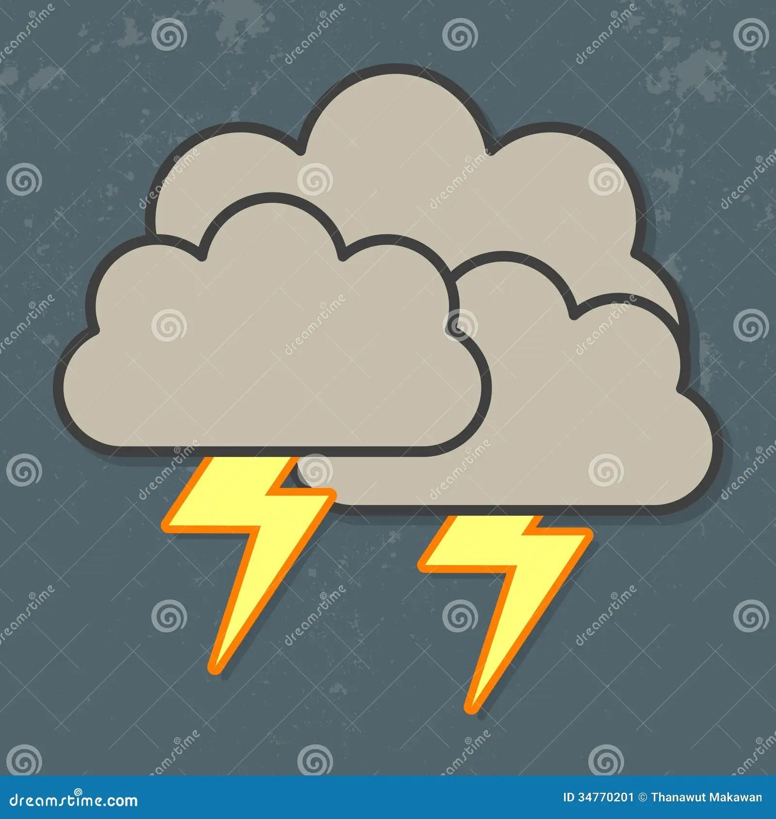 And Lightning Rain Thunder Drawing
