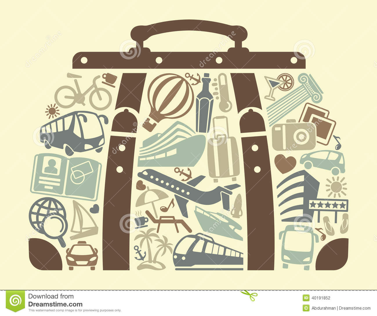 Summer Vacation Clip Art Black And White