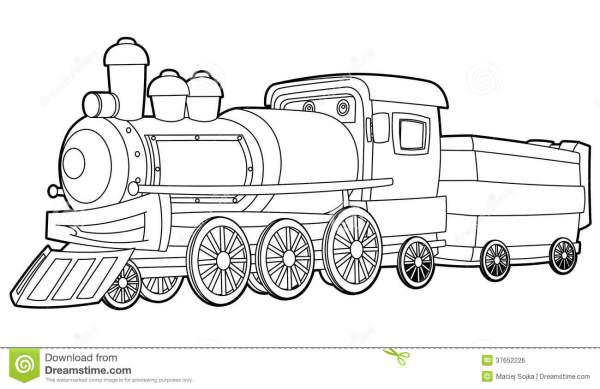 train coloring pages printable # 26