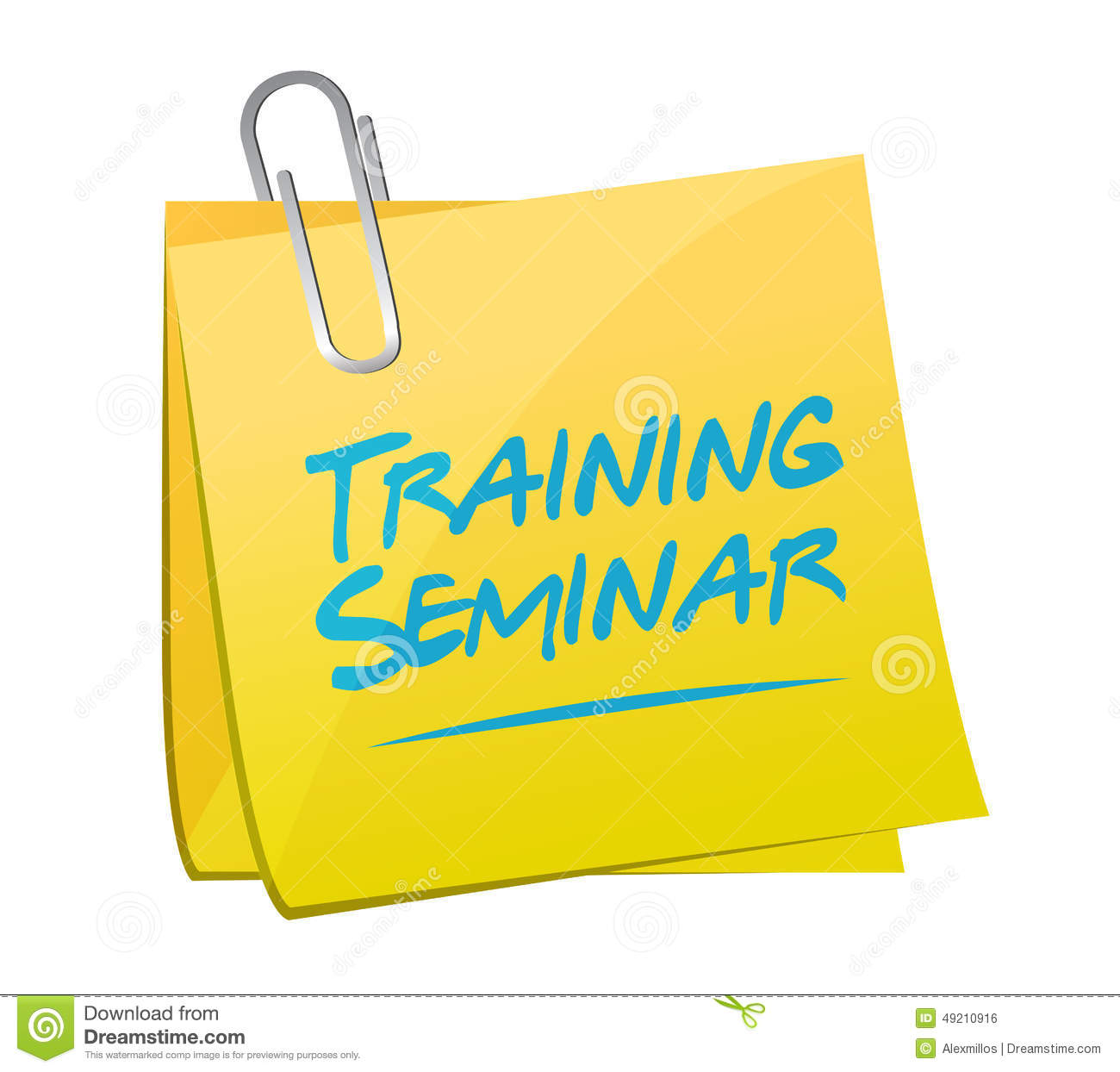 Training Seminar Memo Post Illustration Design Stock ...