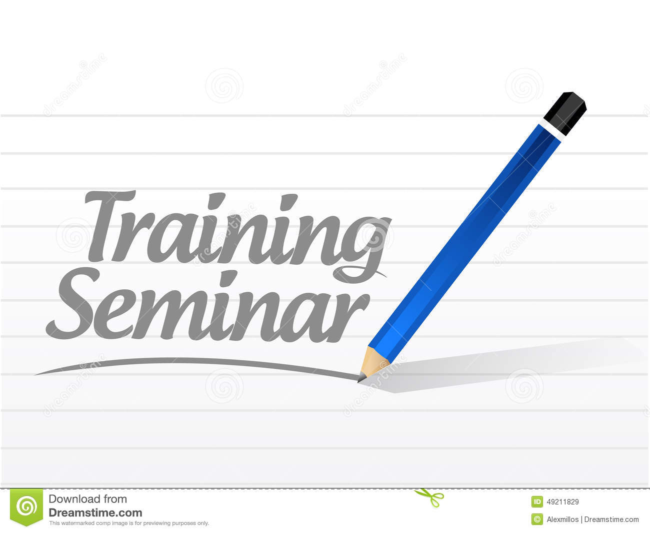 Training Seminar Message Illustration Stock Illustration ...