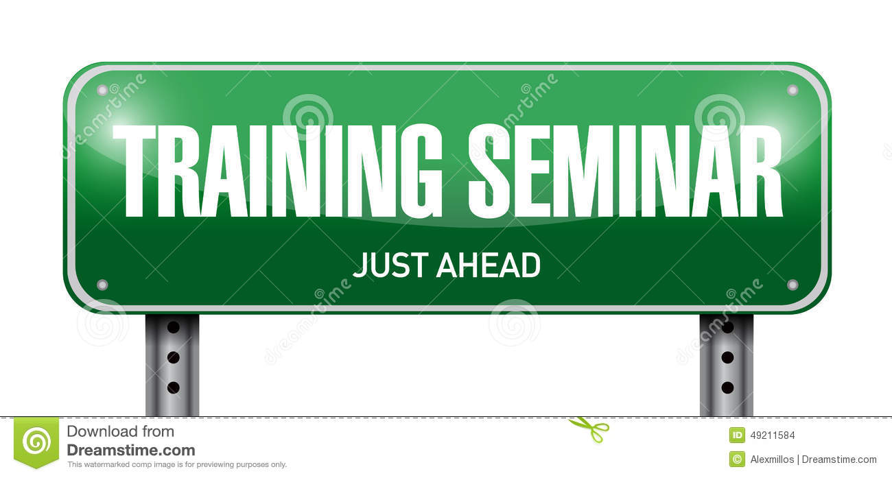 Training Seminar Road Sign Illustration Stock Photo ...