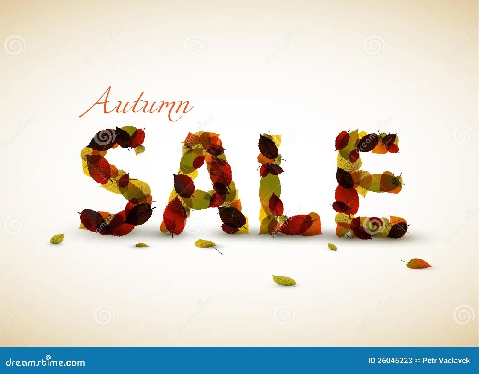 Vector Autumn Sale Poster Stock Photos Image 26045223