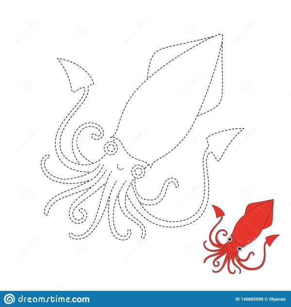 squid coloring pages for kids # 42