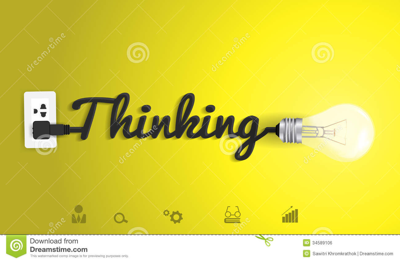 Vector Thinking Concept With Creative Light Bulb I Stock