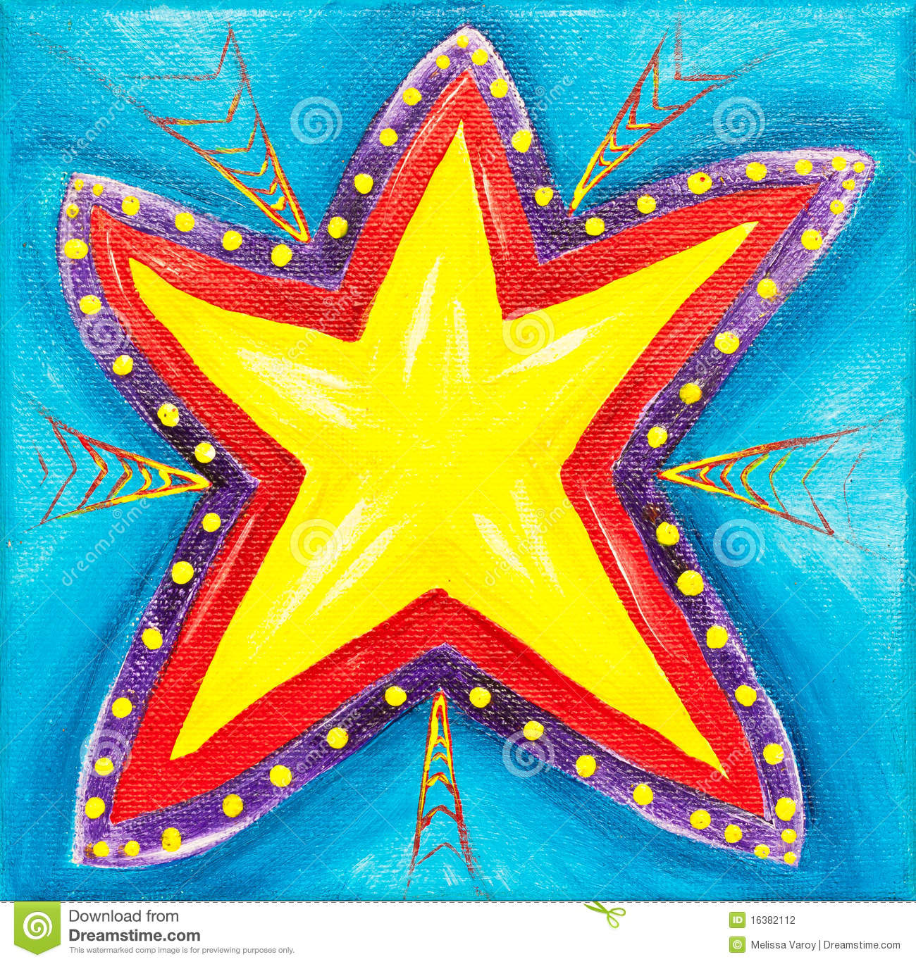 Vibrant Star Painting Stock Illustration Image Of