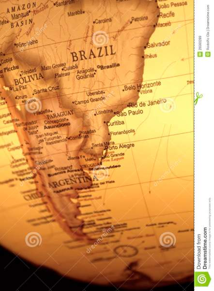 Vintage Map Of South America Stock Image   Image of curving     Download comp