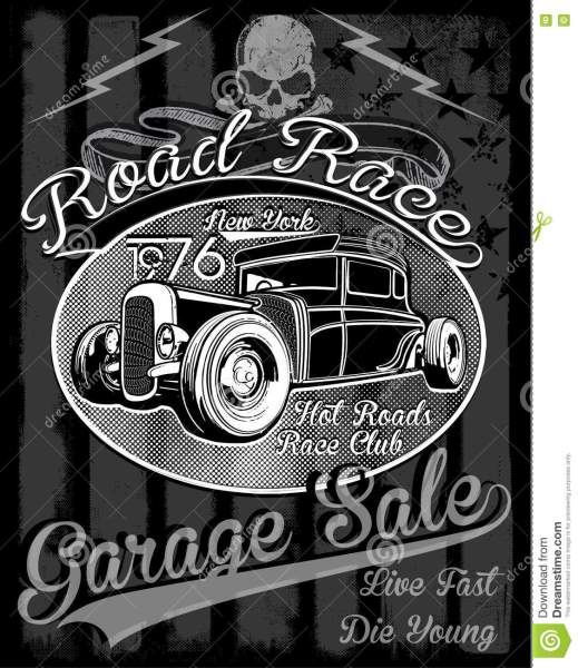 Vintage Race Car For Printing vector Old School Race Poster  Stock     Download Vintage Race Car For Printing vector Old School Race Poster  Stock  Vector