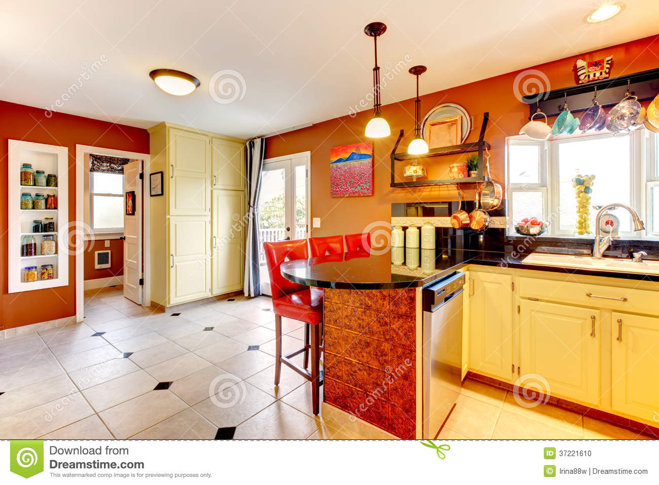 Yellow Paint Colors Kitchen Walls
