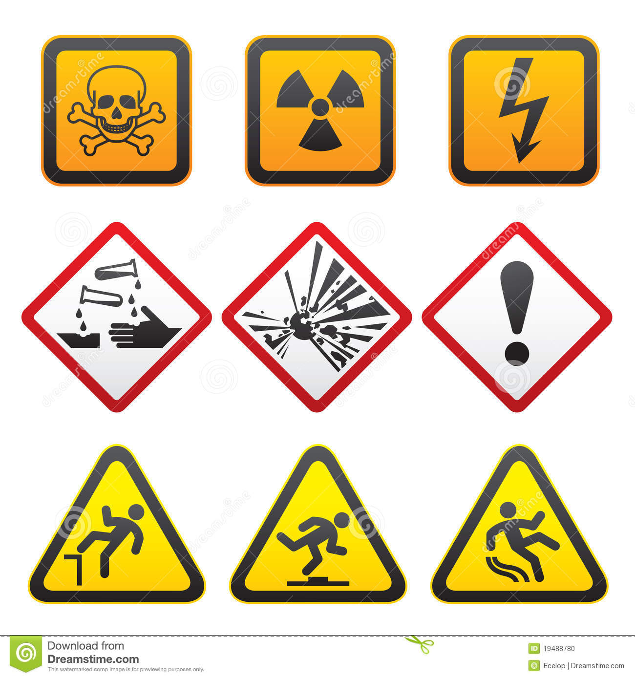Lab Safety Signs And Labels