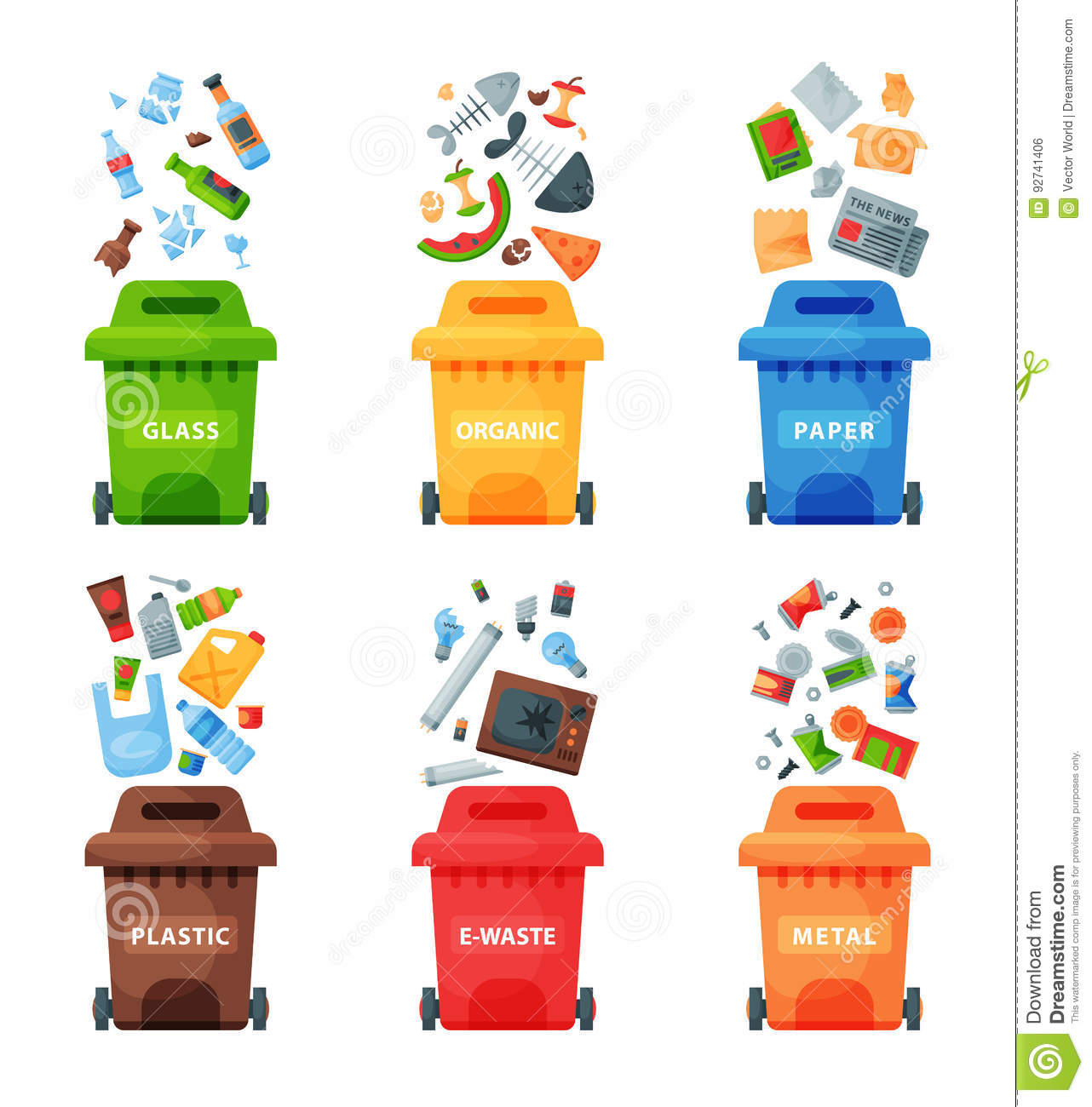My Trash Truck Garbage Cans