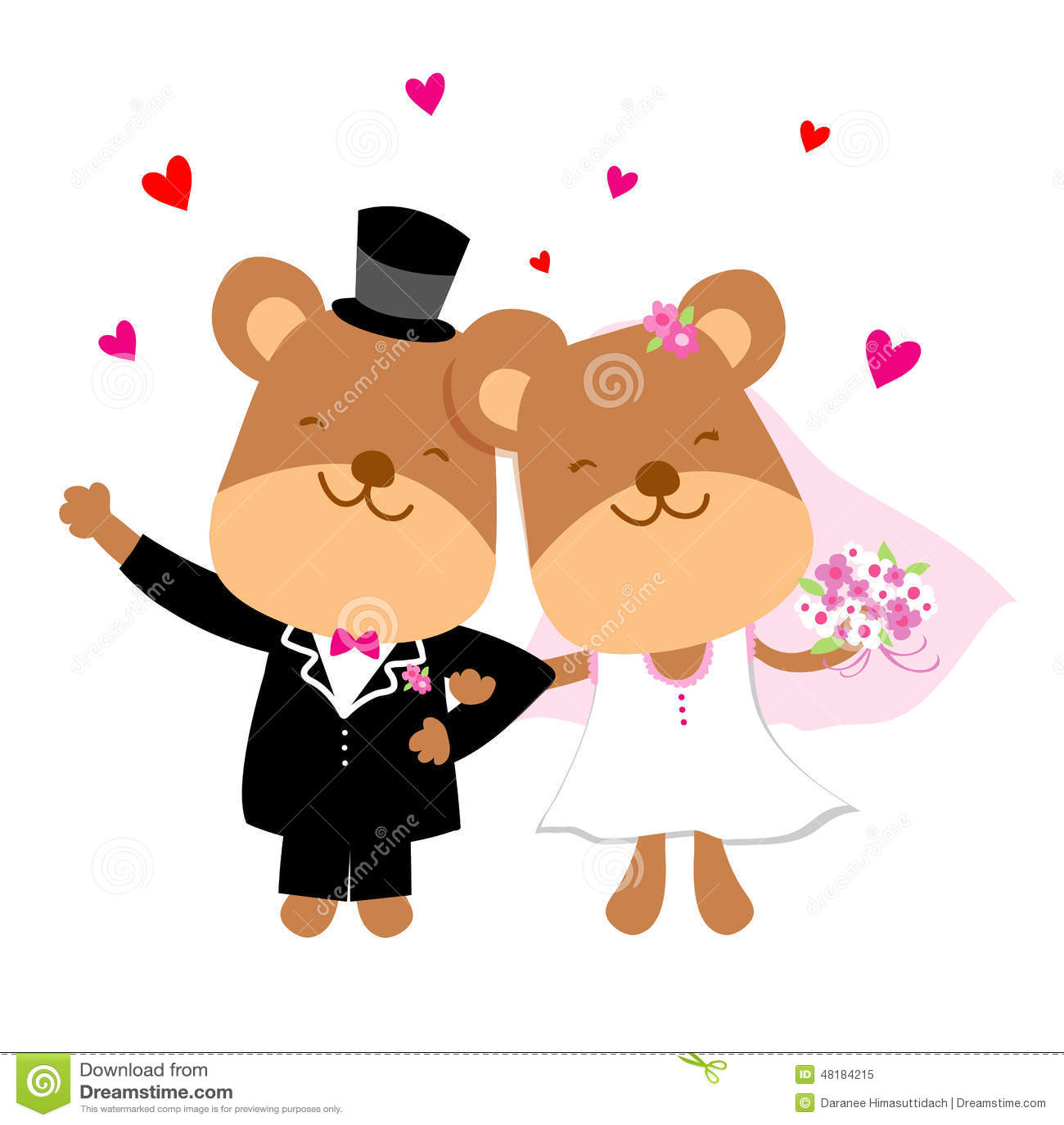 Romantic Bear Animation