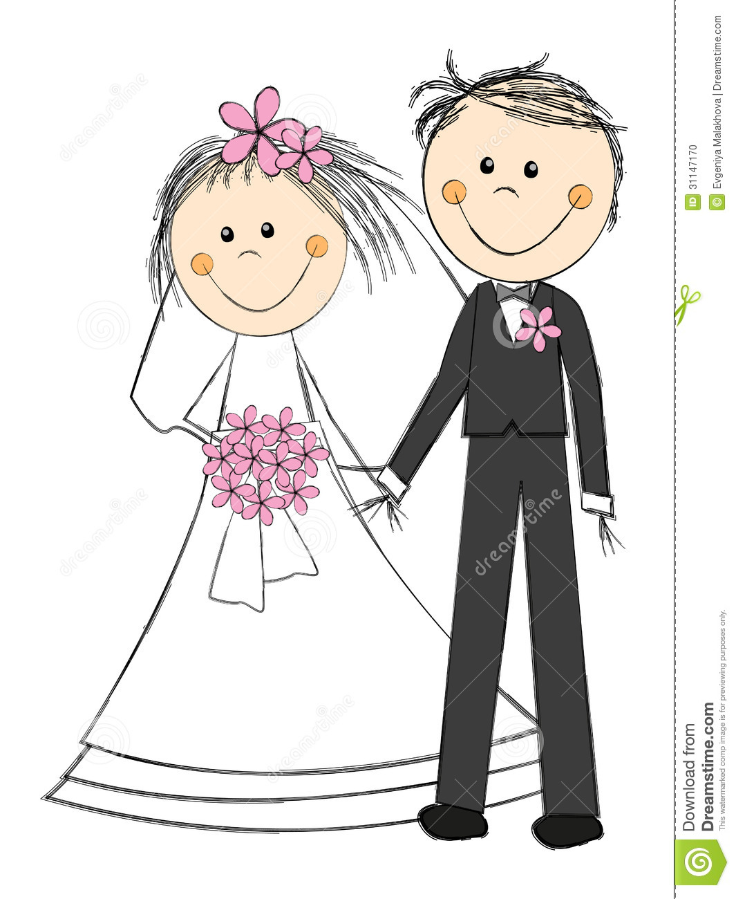 Wedding Bells Cartoon