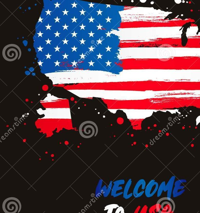 HD Decor Images » Welcome To USA  Flag And Map Of The Country Stock Vector     Download Welcome To USA  Flag And Map Of The Country Stock Vector    Illustration of