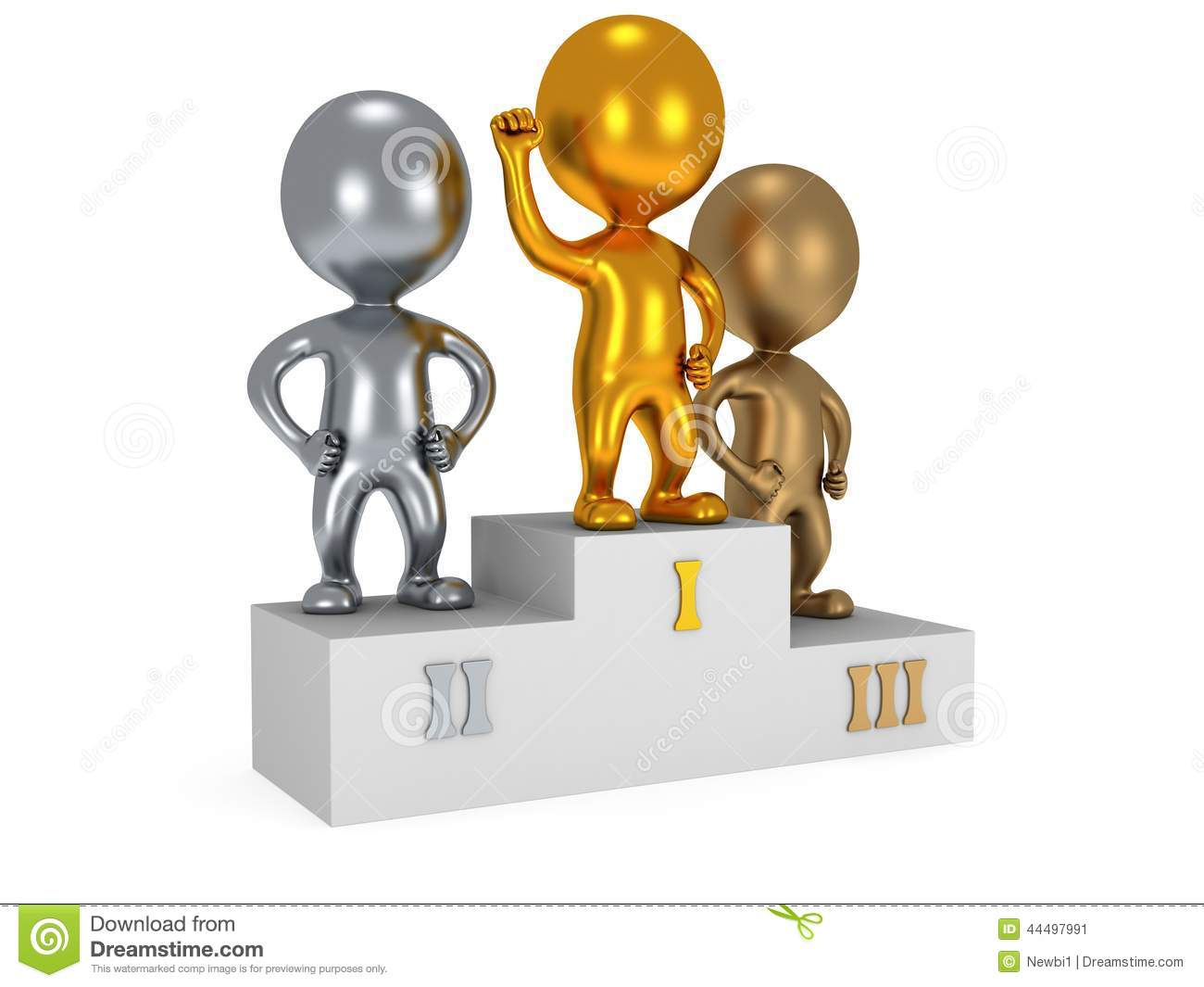 Winners On Sports Podium Isolated On White Stock ...