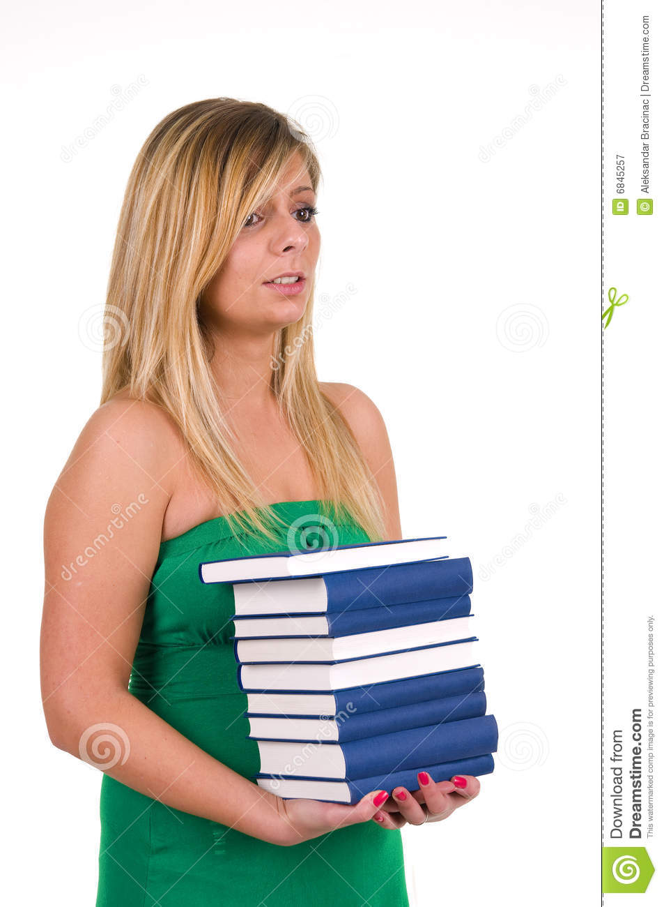 Half Girl Carrying Books