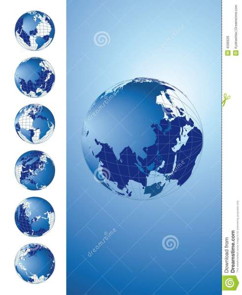 World map  3D globe series stock illustration  Illustration of     Download comp