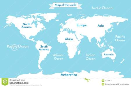 Oceans and continents in world map path decorations pictures continents oceans on map of world our planet vector image world continents map with countries and oceans labeled jonespools info image for world map picture gumiabroncs Choice Image