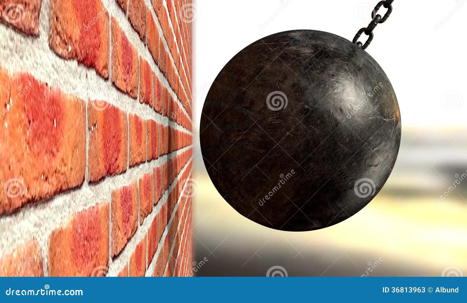 Brick Wall Wrecking Ball
