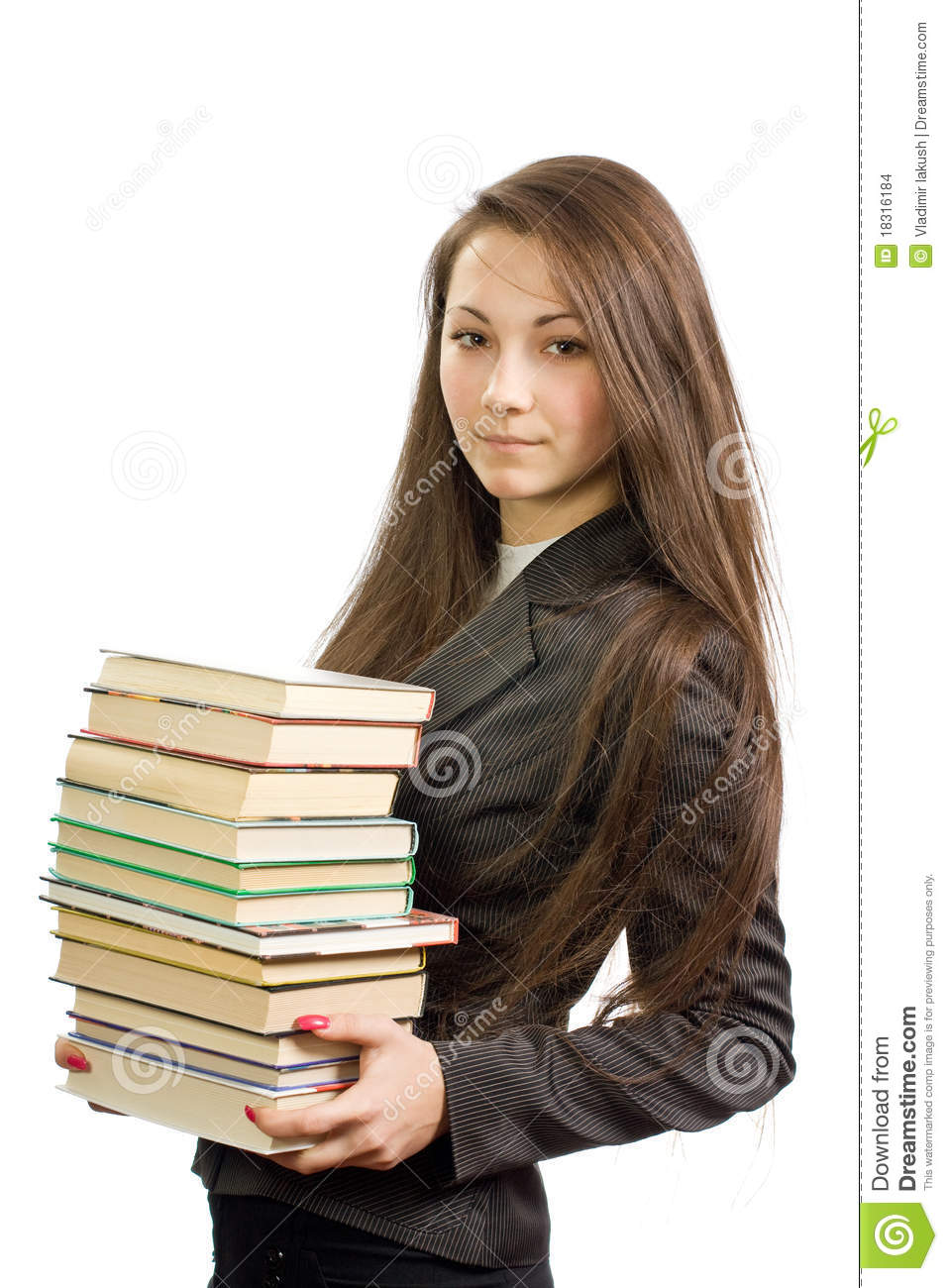 The Young Beautiful Librarian Stock Images Image 18316184