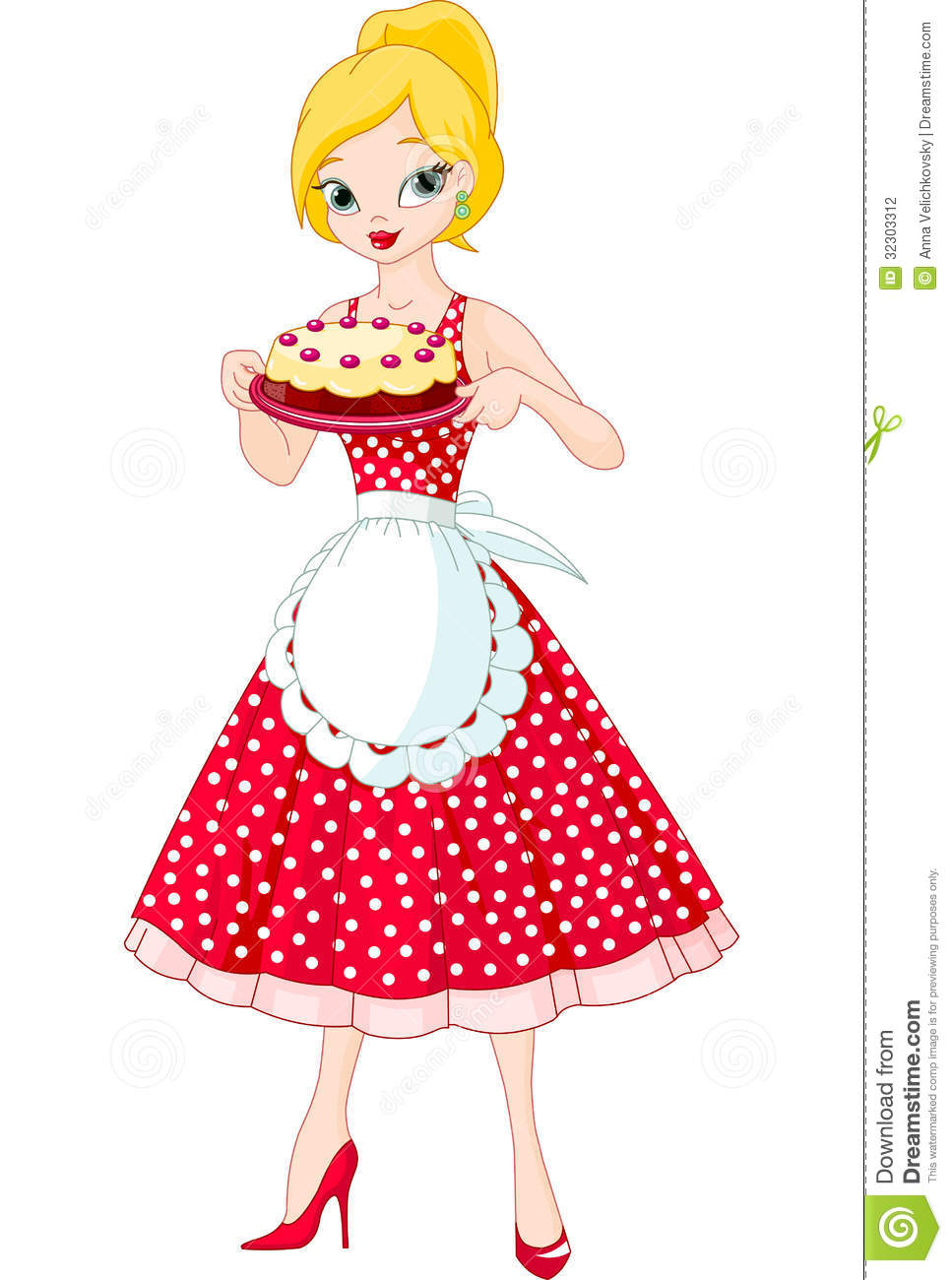 Young Woman Serving Cake Stock Photography Image 32303312