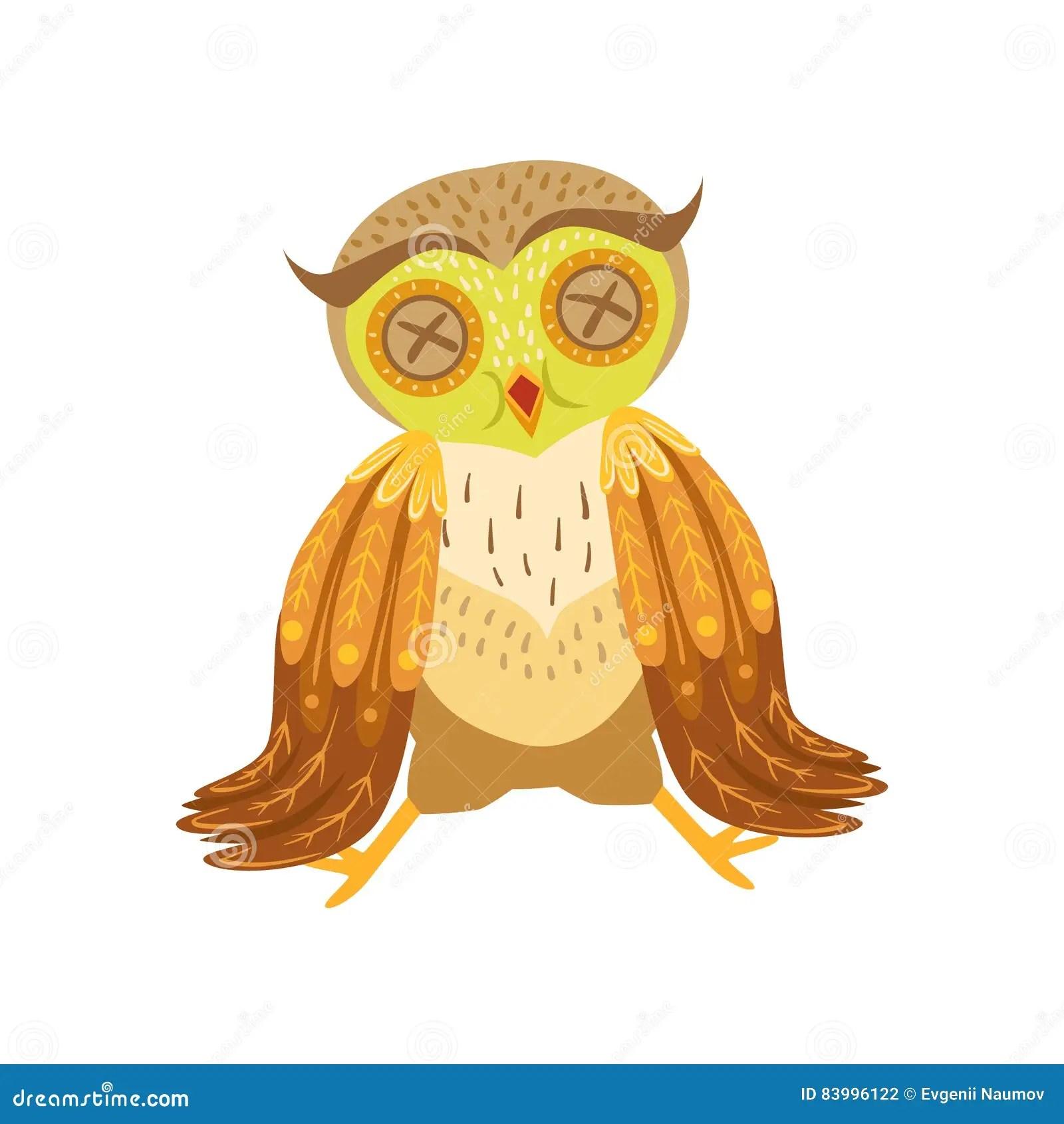Image of: Vector Ziek Owl Cute Cartoon Character Emoji Met Forest Bird Showing Human Emotions En Gedrag Dreamstime Ziek Owl Cute Cartoon Character Emoji Met Forest Bird Showing Human