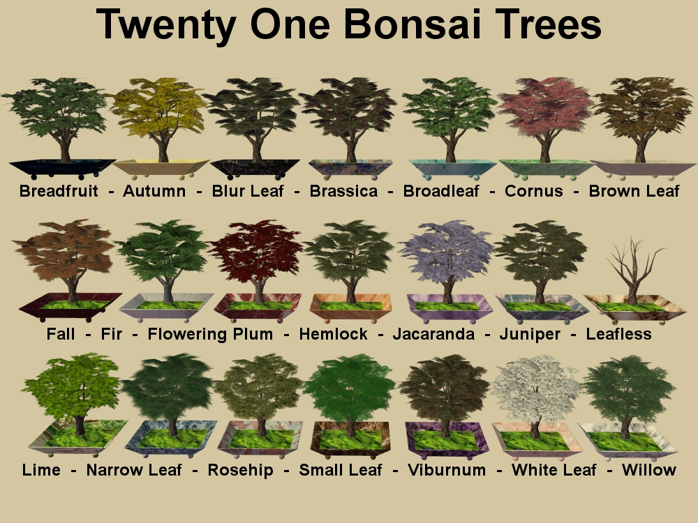 Mod The Sims - New Bonsai Tree for your game!