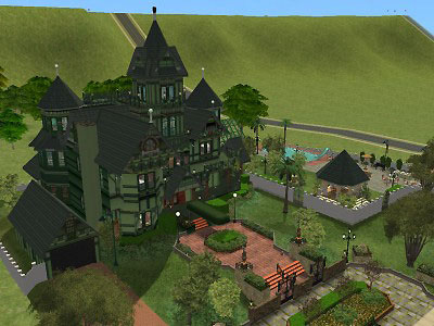 Mod The Sims   The Carson Mansion     Click image for larger version Name  Carson Side and Front jpg Size   58 3