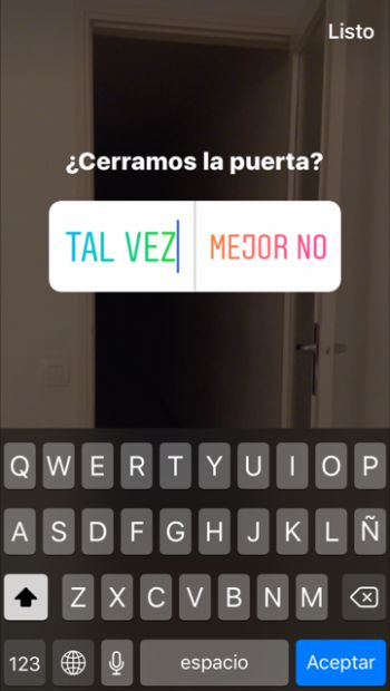 Instagram Stories Encuesta