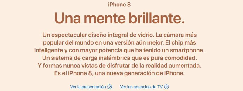 copywriting conversacional Iphone8
