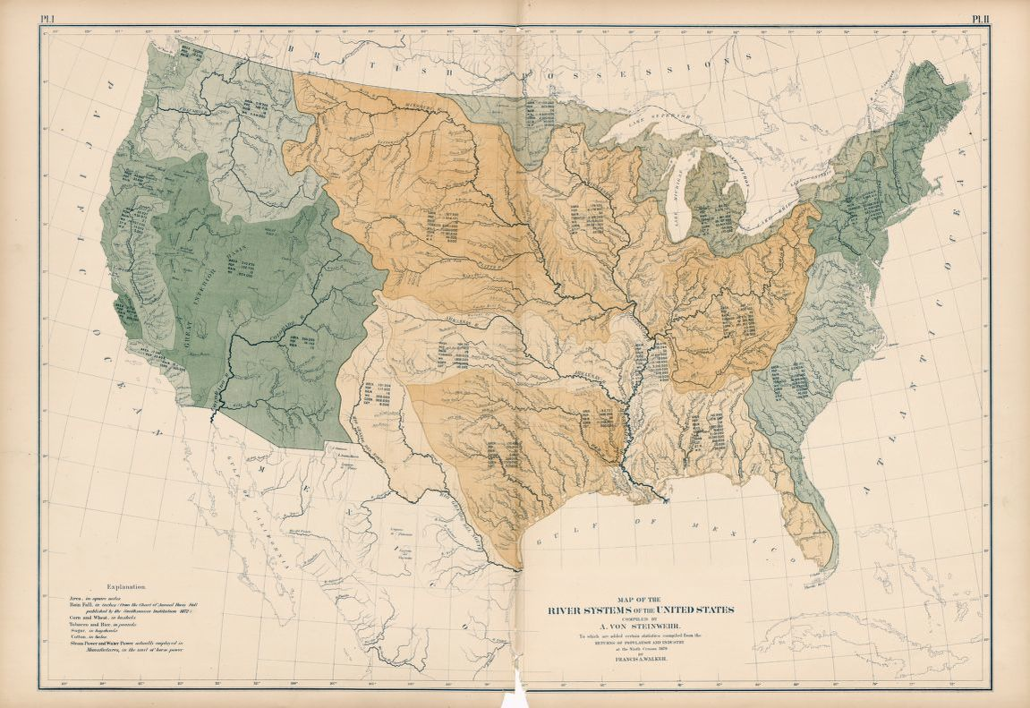 Map of the River Systems of the United States   Library of Congress Clip Image Zoom in Zoom out Rotate right Fit screen Full expand Prev Next