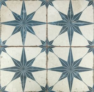 Star Series   The Tile Shop Star Blue Ceramic Wall and Floor Tile   18 x 18 in