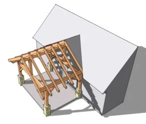 12x16 Timber Frame Porch 1