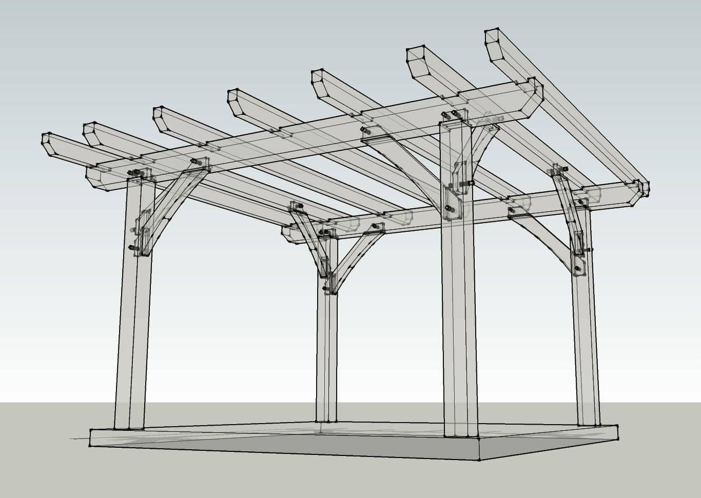 12x12 Timber Frame Pergola Plan Timber Frame Hq