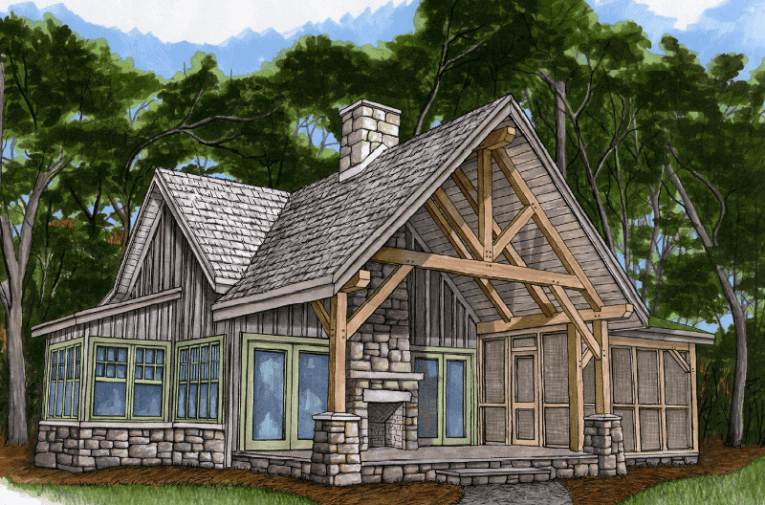 Piney Creek Cottage   Timber Frame HQ Streamline Timberfame logo