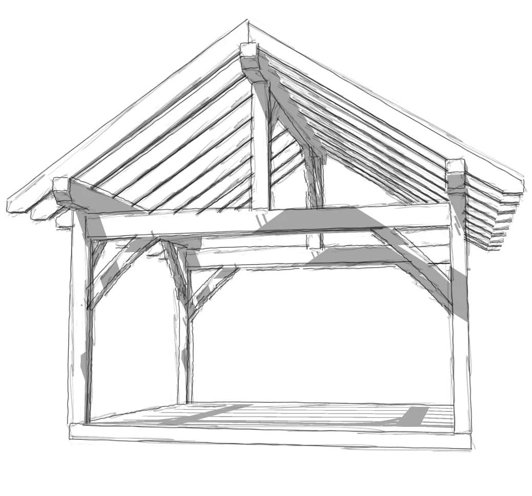 Front Porch Roof Framing Blueprints
