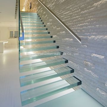 Indoor Frameless Glass Railing Steel Glass Floating Staircase Cost   Glass Balustrade Stairs Near Me   Railing Systems   Handrails   Wood   Floating Stairs   Tempered Glass Panels
