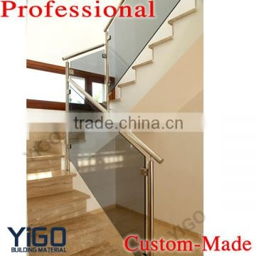 Modern Design Stainless Steel Glass Railing Model Interior Stair   Glass And Stainless Steel Stair Railing   Custom Glass   Architectural Glass   Balcony   Modern   Metal Glass